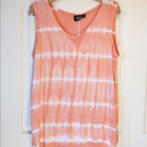 Onque casual tie dye top L